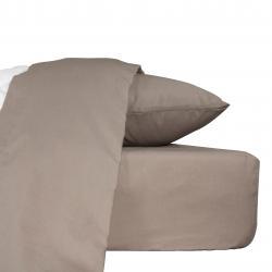 Drap plat confort Taupe