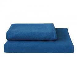 Serviette de toilette éco lavable bleue - Easytex