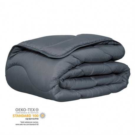 Couette confort anthracite certifiée Oeko-Tex®