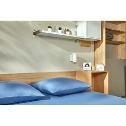 Zoom taie d'oreiller lavable éco bleue Easytex
