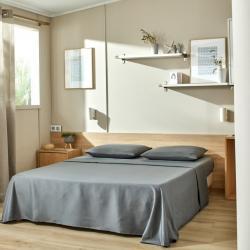Parure de lit drap plat lavable grise anthracite Easytex