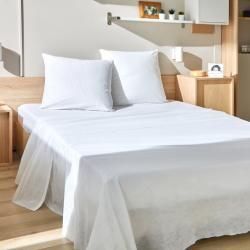 Kit de couchage jetable confort drap plat
