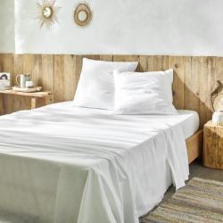 ELIE le linge de lit jetable Nature avec drap plat