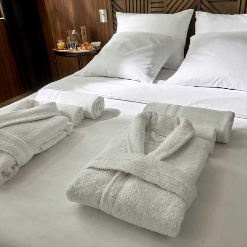 Peignoir lavable confort Easytex 100% coton Accueil client