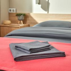 Serviettes éco lavables grises - Accueil client
