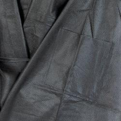 Zoom matière peignoir noir jetable Easytex